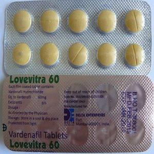 Generisk VARDENAFIL til salg i Danmark: Lovevitra 60 mg i online ED-piller shop t-art21.com