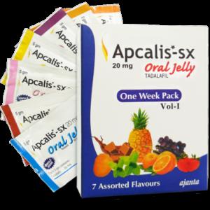 Generisk TADALAFIL til salg i Danmark: Apcalis SX Oral Jelly 20mg i online ED-piller shop t-art21.com
