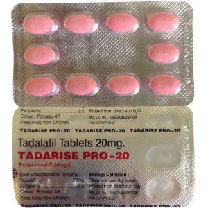 Generisk TADALAFIL til salg i Danmark: Tadarise Pro 20 i online ED-piller shop t-art21.com